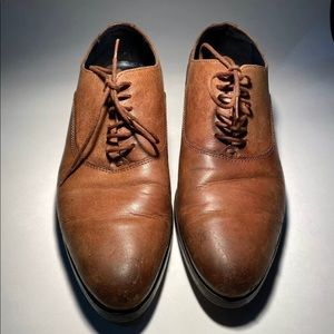 Zara Man Brown Leather Shoes
